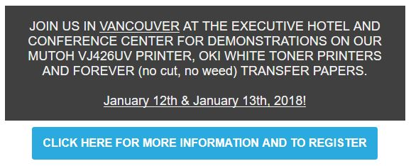 Join QDS, Mutoh, FOREVER and OKI in Vancouver