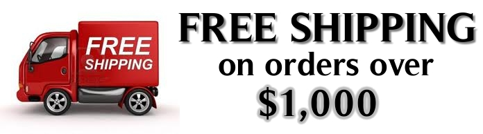 Quality Digital Solutions offers free shipping on all orders over $1,000 (excludes equipment)