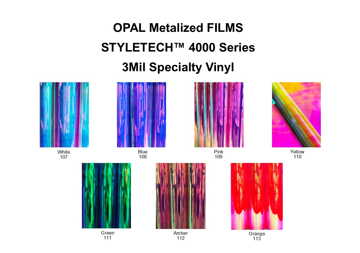 All Opal Holographic Colors