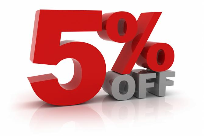 5% off purchase of 4 or more inks