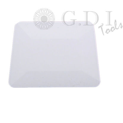 "Picture of 4"" White Teflon Hard Card Squeegee"