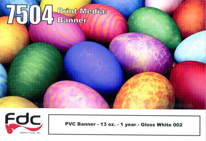 "Picture of 54"" Printable Scrim 13 oz Gloss White Banner"