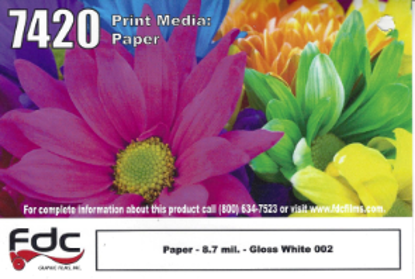 "Picture of 54"" Poster Paper Gloss White"
