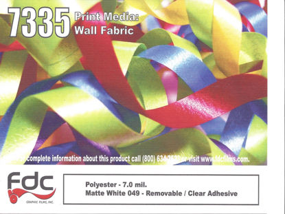 "Picture of 54"" Printable 7mil Matte White Wall Fabric - Removable"