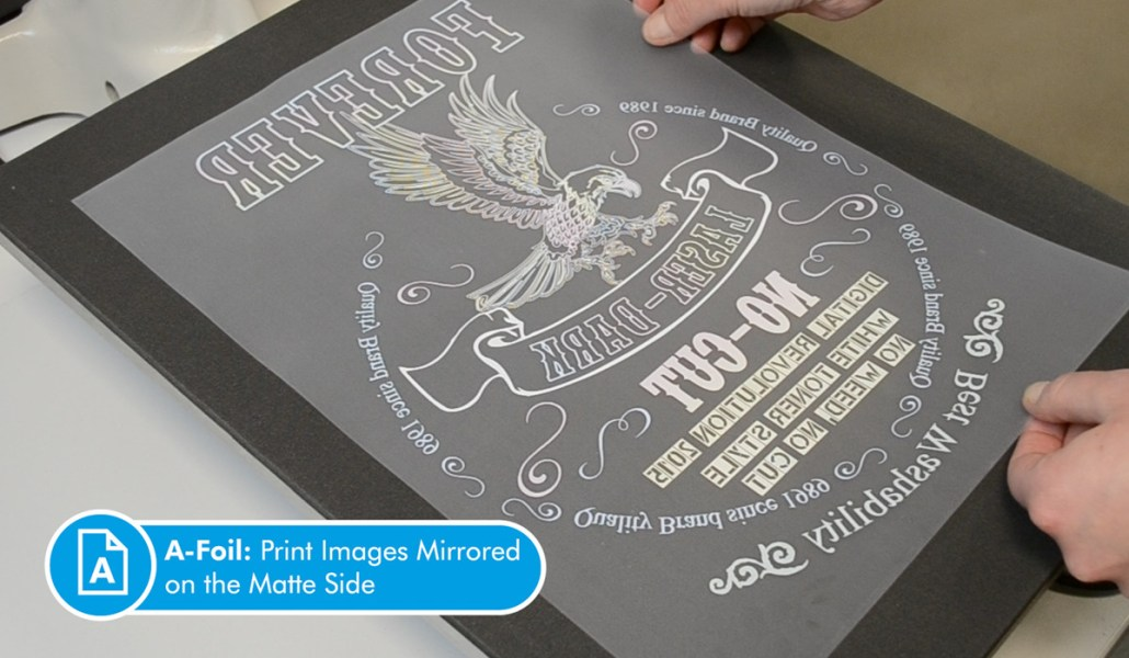 "Picture of Laser Dark (no cut) A-Foil A4 Sheets 8.27""x 11.69"""