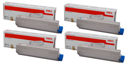 Picture of OKI C831-TS Toner Cartridges and Drums