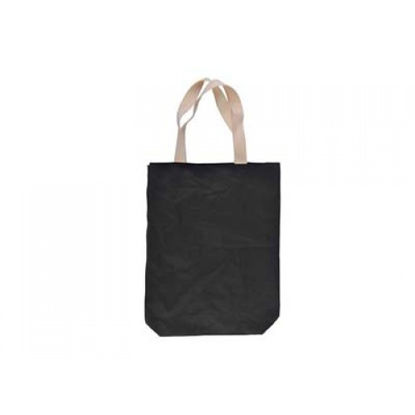 "Picture of Black Cotton Tote Bag 14.5"" x 18"""