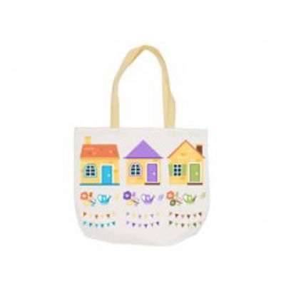 "Picture of White Polyester Canvas Tote Bag 14.75"" x 17"""