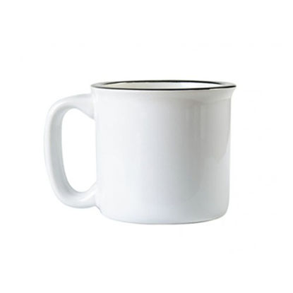 Picture of 13oz White Ceramic Enamel Mug