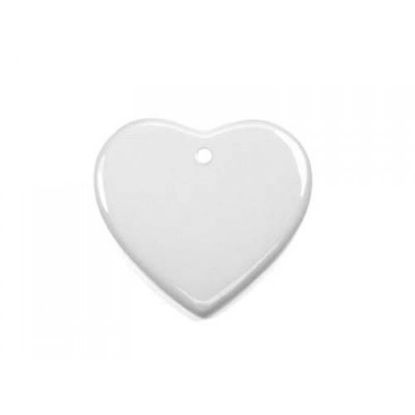 "Picture of 3"" Heart Ceramic Ornament"