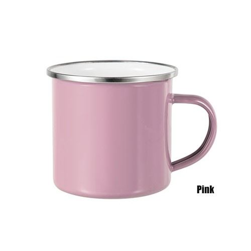Picture of 12oz Enamel Flat Bottom Mugs