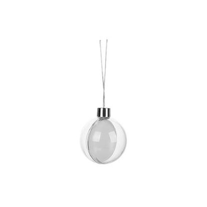 "Picture of Hanging Plastic Ball Ornament 3.5""(5)"