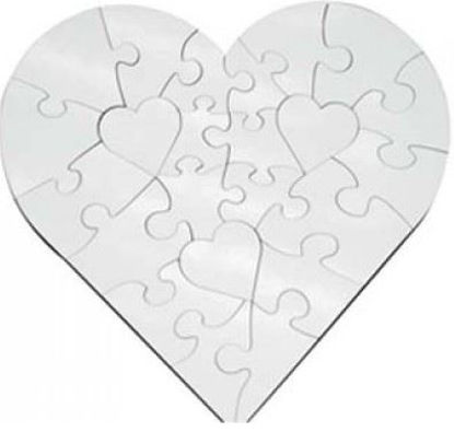 Picture of Hardboard Puzzle-Heart