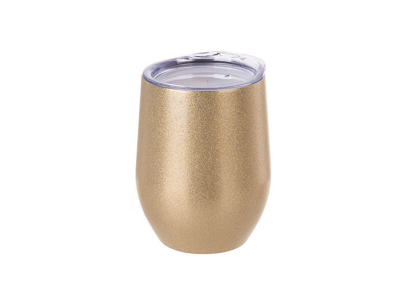 Picture of 12oz Stainless Steel Stemless Glitter Wine Cup