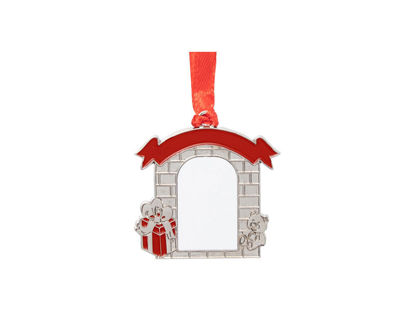 "Picture of 2"" Metal Christmas Wall Ornament"