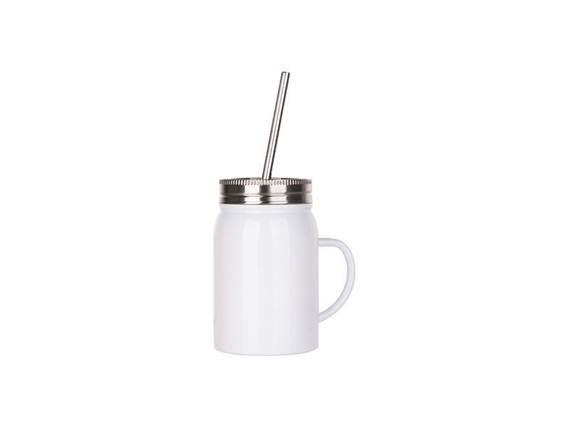 17oz SS Tumbler with lid and straw