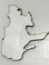 Picture of MDF Ornament - Quebec