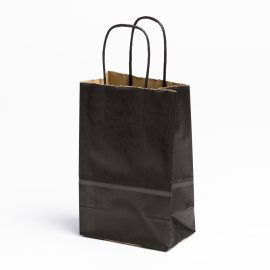 Picture of Black Paper Shopping Bags